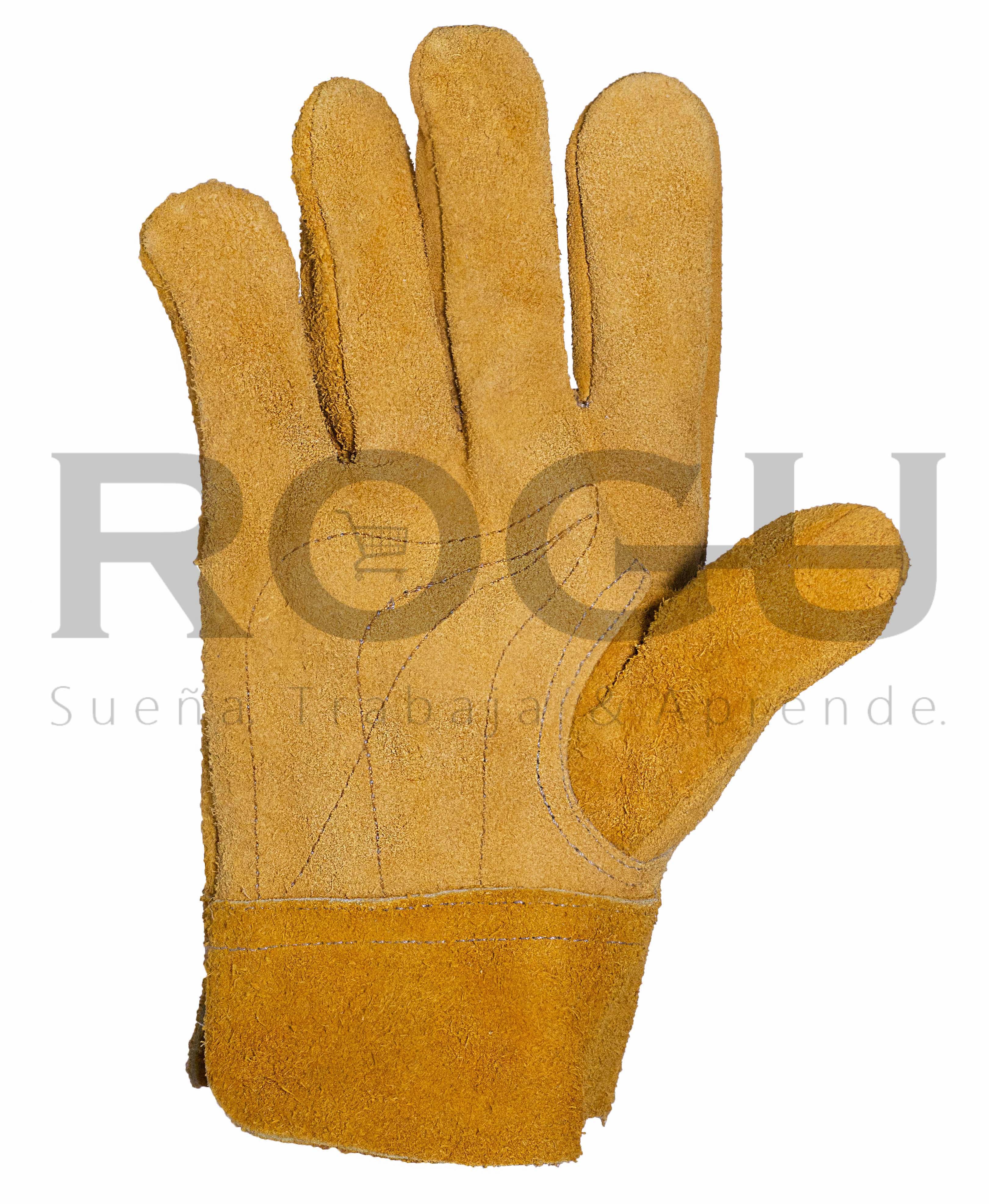 guante de carnaza corto amarillo