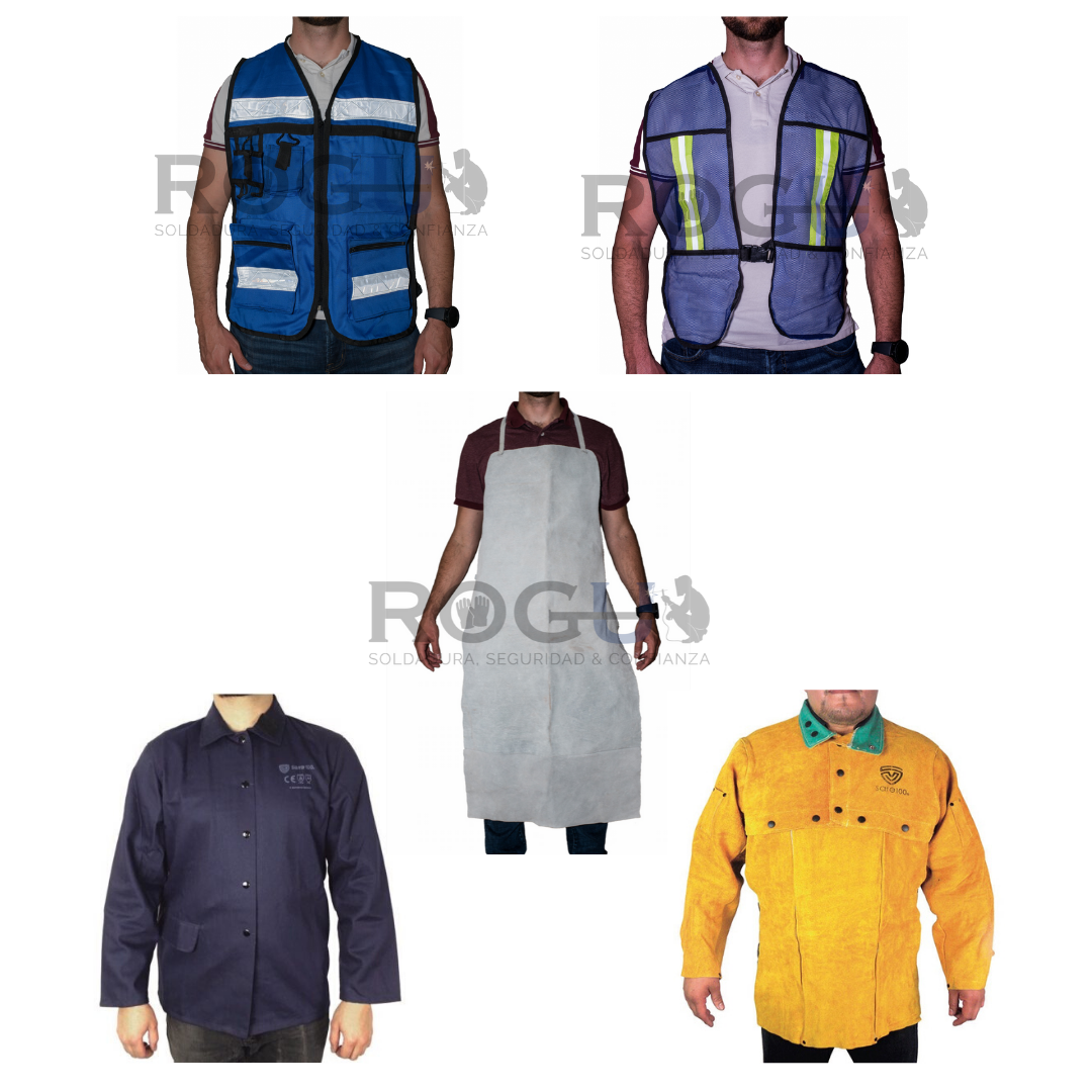 Chamarras, chalecos y petos de seguridad industrial